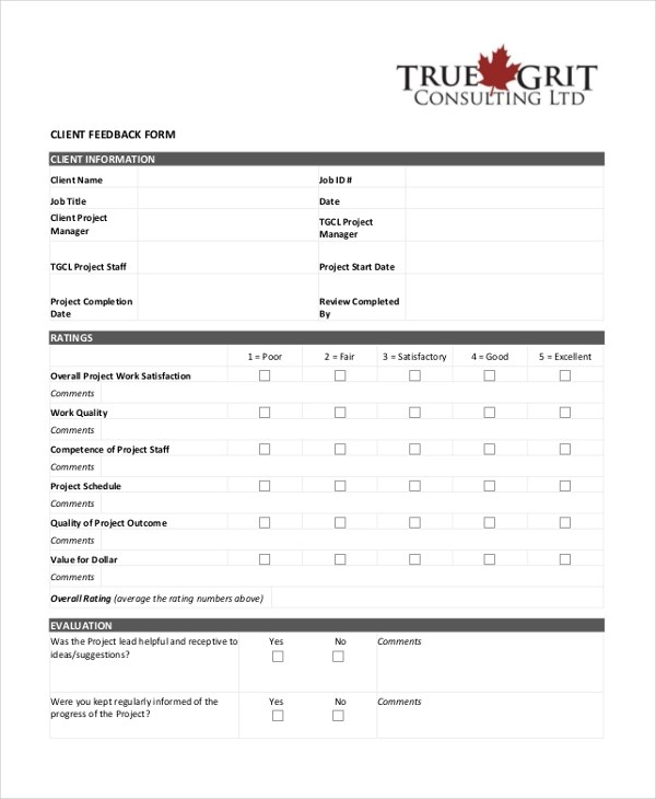 Sample Employee Feedback Forms - 8+ Free Documents in PDF
