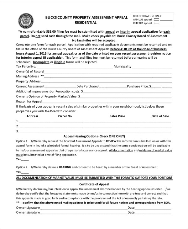 Property Assessment Template Property Assessment Template