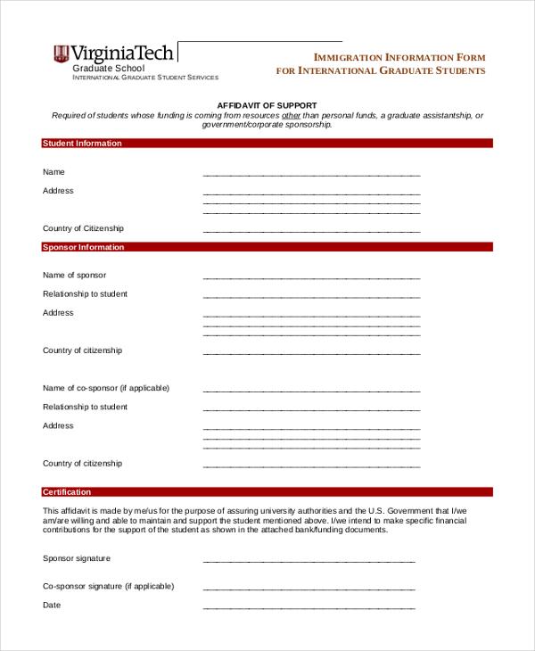 Best Of Affidavit Of Support form Philippine Affidavit Of Support - affidavit of support