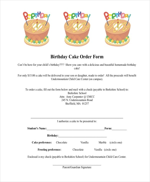 target bakery cake order form - Heartimpulsar