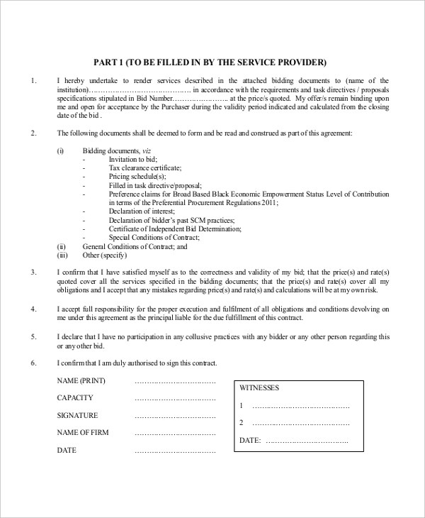 Sample Contractor Form - 20+ Free Documents in PDF, Doc