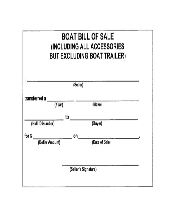 Sample Bill of Sale Form - 11+ Free Documents in Word, PDF - bill of sales forms