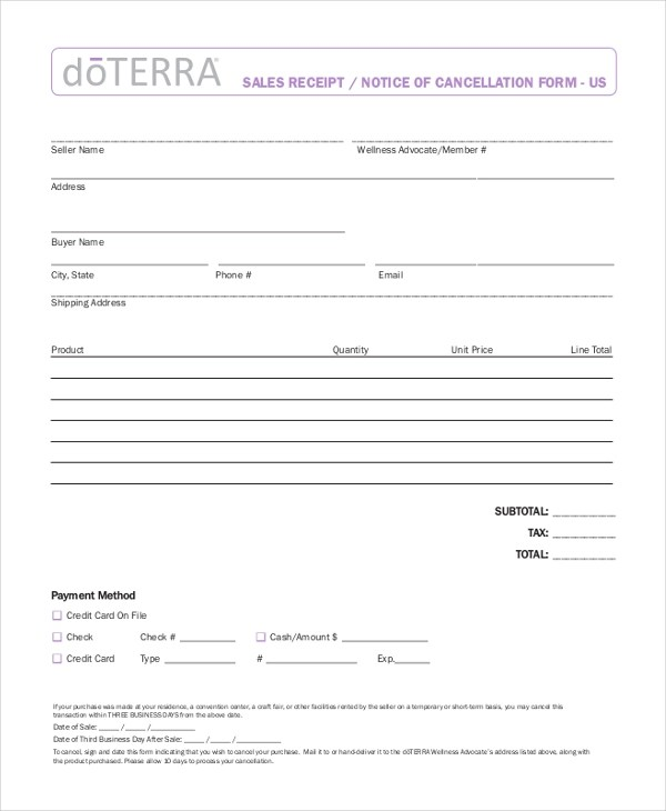 22+ Sample Receipt Form - Free Documents in PDF