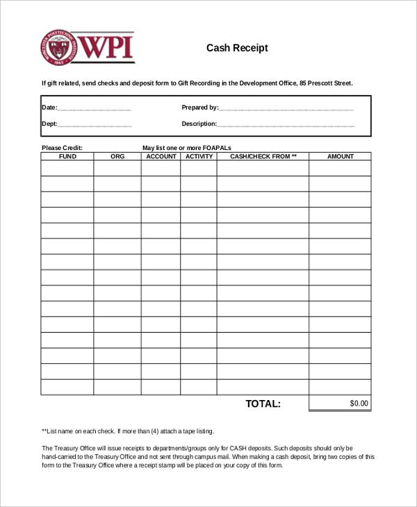 sample receipt form - Tikirreitschule-pegasus