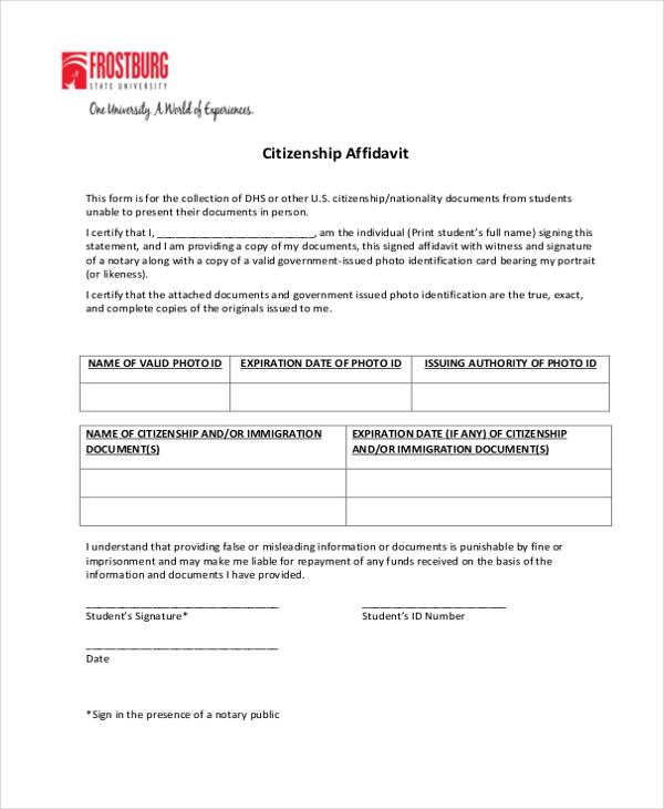 General Affidavit Template Image collections - Template Design Ideas - generic affidavit