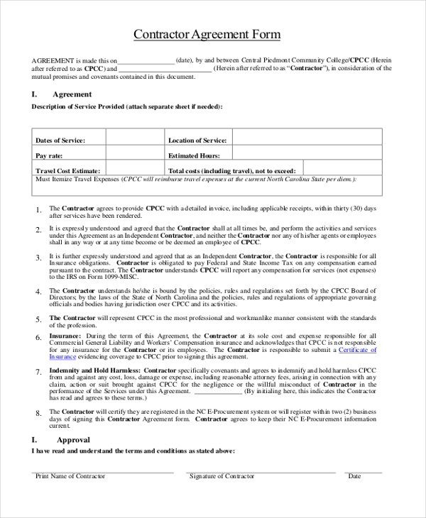 examples of contracts between two businesses 96 Examples of