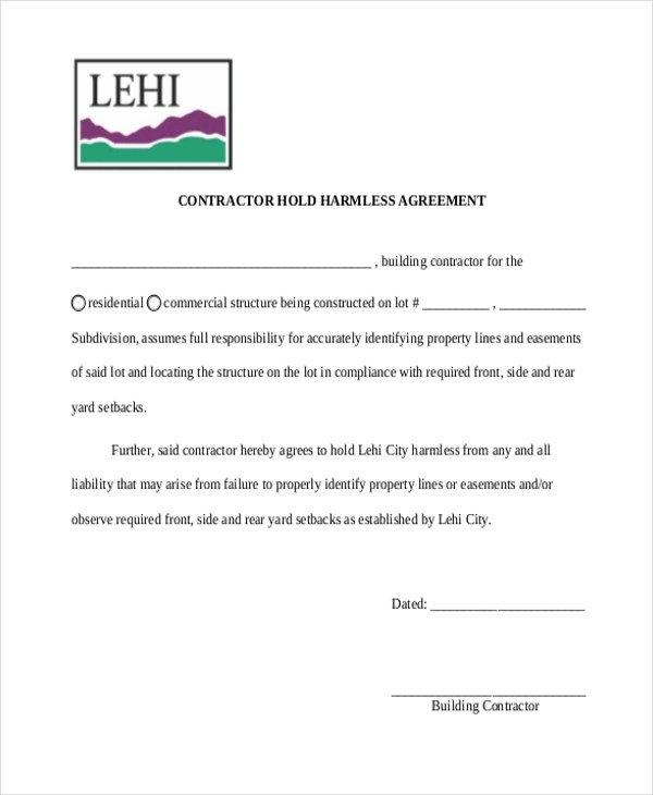Sample Hold Harmless Agreement form - 12+ Free Documents in word, PDF - sample hold harmless agreement
