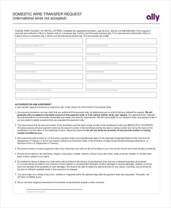 Transfer Request Form akumal