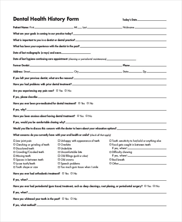 Sample Bsa Medical Form Medical Forms Family Medical History Form - sample medical history form