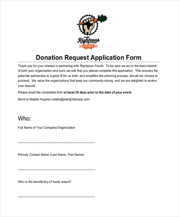 Sponsorship Request Form Web Form Templates Customize Use Now - request for donation form template