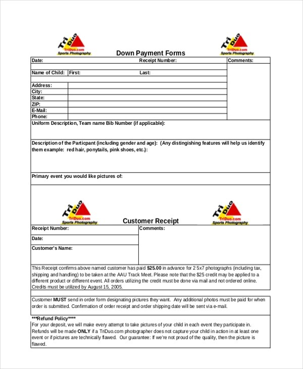 Sample Payment Receipt Forms - 8+ Free Documents in Word, PDF, Excel - payment receipt template pdf