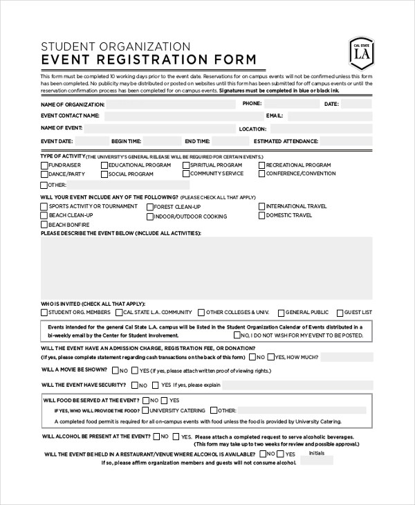 Nice Sample Registration Forms Template Photos \u003e\u003e Event Registration - event registration form template word