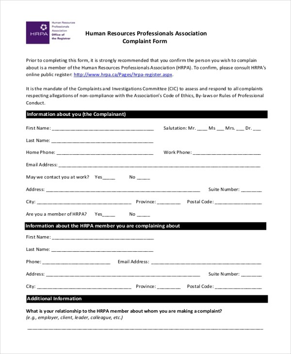 Irs Complaint Form ophion