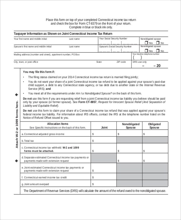 Injured Spouse Form File Form 8379 To Recover Tax Refund Losses A - injured spouse form