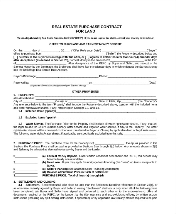 Sample Contract For Selling Land | Prodoc Legal Forms Software