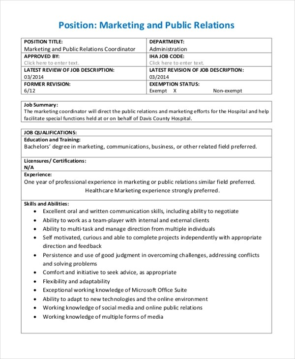 Sample Marketing Evaluation Form - 8+ Free Documents in PDF