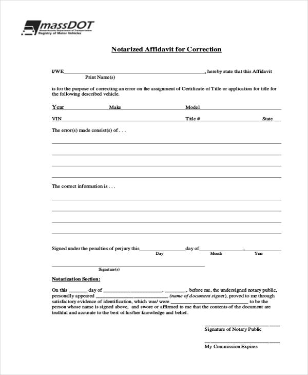 Sample General Affidavit Form - 10+ Free Documents in PDF - general affidavit form