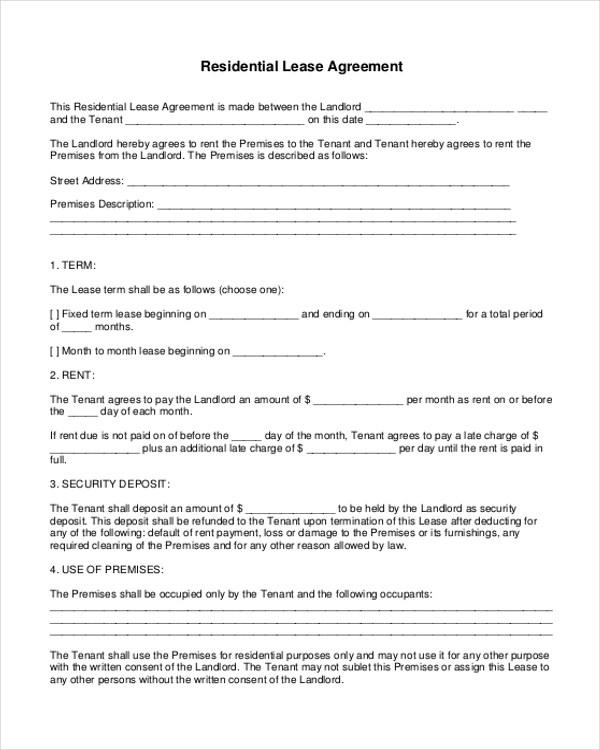 16+ Sample Lease Agreement Forms - Sample, Example, Format - sample house lease agreement