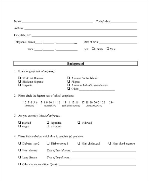 Survey Example Template Sample Student Apprentice Survey Template