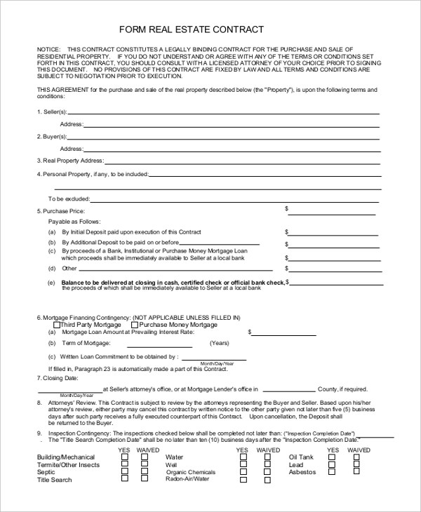 sample contract form - Gottayotti