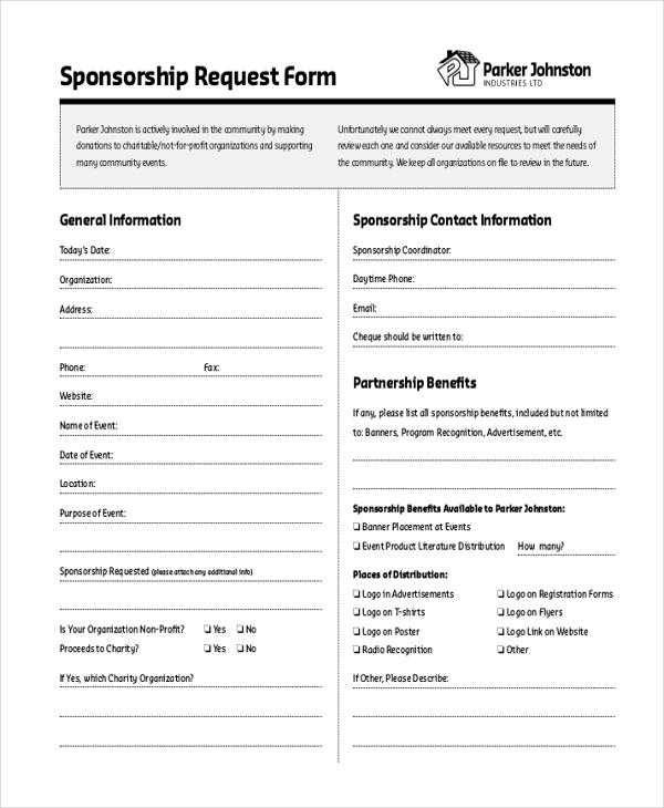 Sponsorship Request Form Recruitment Applications Form Module And - sponsorship request form