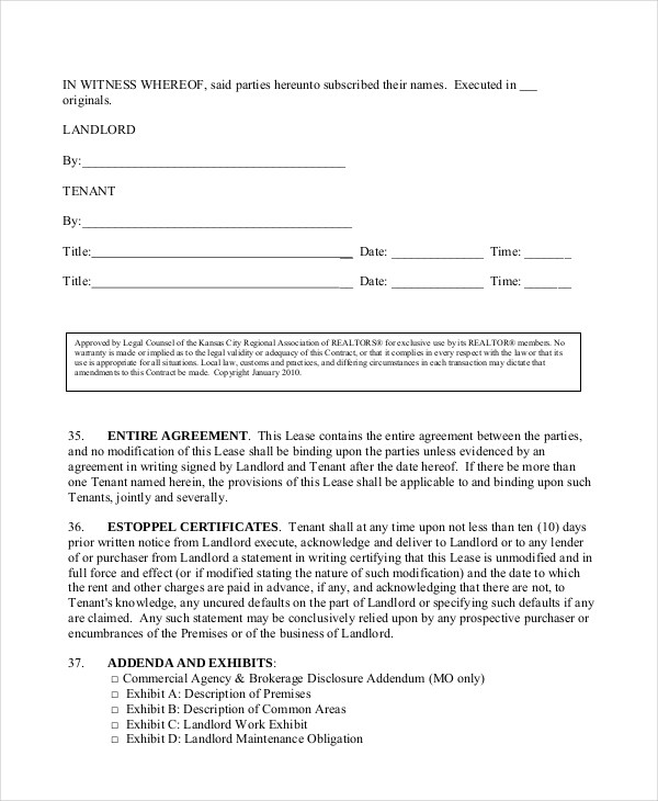 Sample Triple Net Lease Form - 6+ Free Documents in PDF
