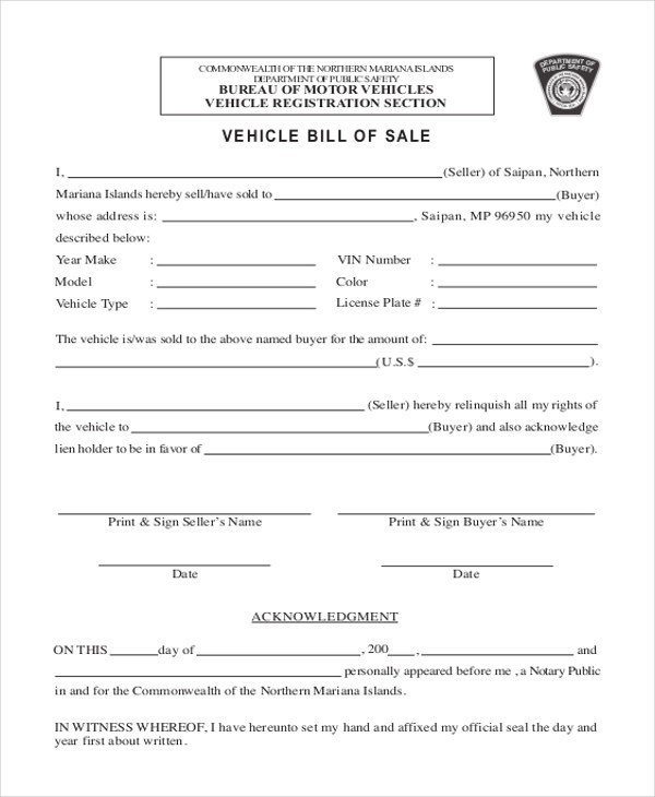 Sample Bill of Sale Form - 11+ Free Documents in Word, PDF - selling a car bill of sale