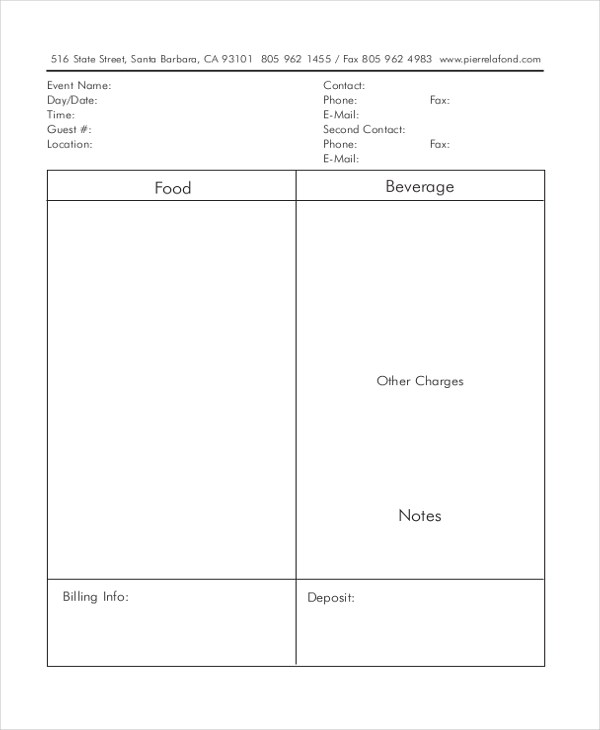 Sample Event Form - 21+ Free Documents in PDF, Doc - event order form