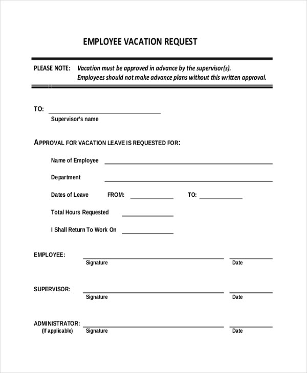 Staff Holiday Form Template Gallery - Template Design Ideas - holiday request form