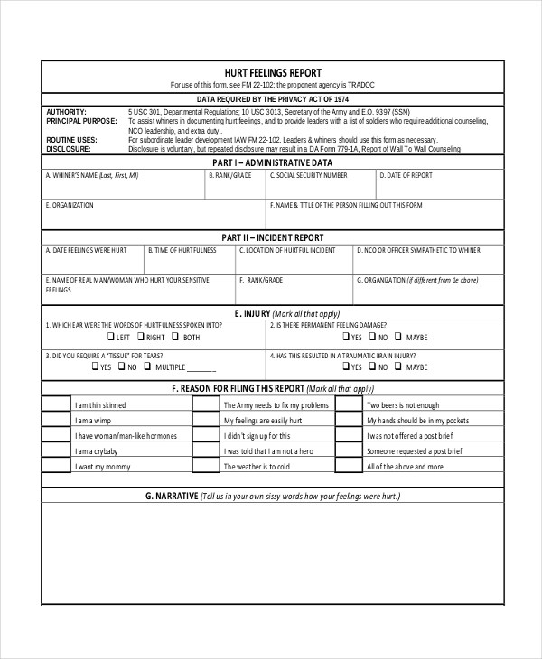 Sample Army Counseling Form - 7+ Free Documents in PDF, Doc