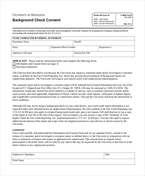 11+ Sample Consent Forms Sample Forms