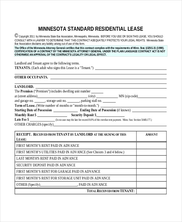 Sample Basic Lease Agreement Form - 8+ Free Documents in PDF - apartment lease agreements
