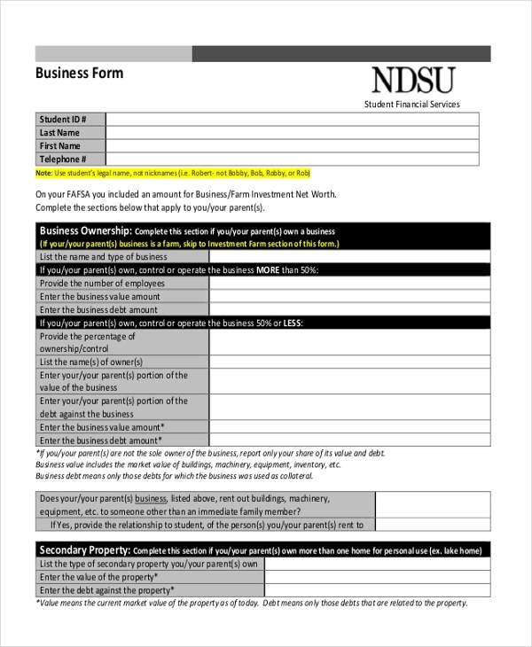 blank business forms - Minimfagency - net worth form