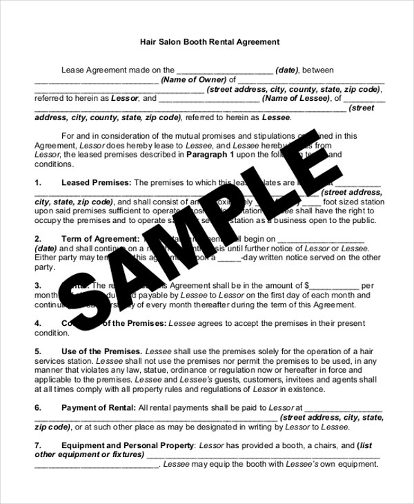 Sample Rental Agreement Form - 11+ Free Documents in word, PDF