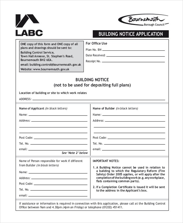 Sample Notice Form - 22+ Free Documents in Doc, PDF - notice form example