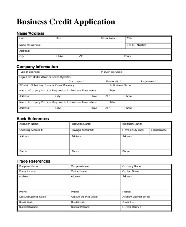 application form example hitecauto - credit application form