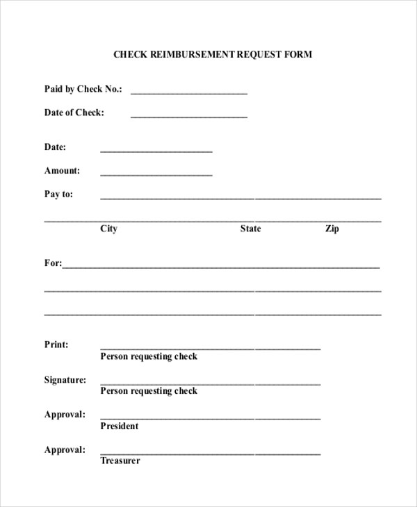 Check Request Form Check Request, Reimbursement Request Form - check request forms