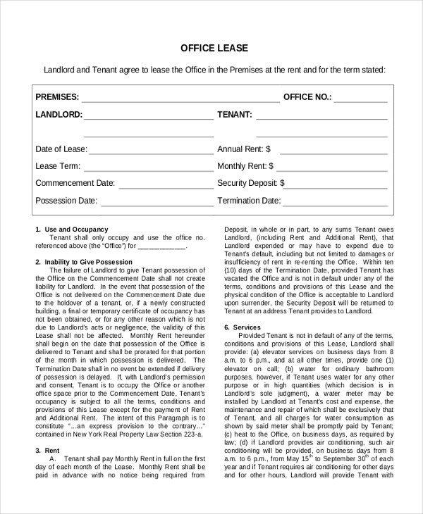 Sample Commercial Lease Form - 9+ Free Documents in PDF, Doc