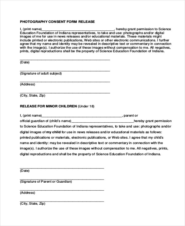 Property Damage Release Form Generic Release Of Liability Form - Location Release Form