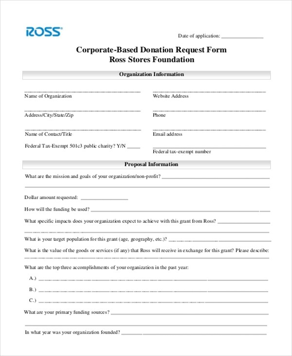 ... Donation Request Form Drape Rental Linens, How To Rental Tips   Sponsorship  Request Form ...