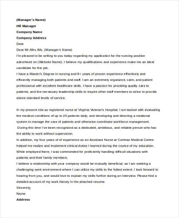 job cover letter sample doc