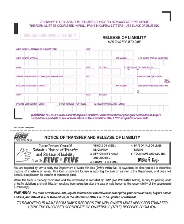 Sample Liability Release Form - 9+ Free Documents in Doc, PDF - free release of liability form
