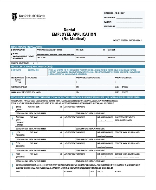 Sample Employee Application Form - 11+ Free Documents in PDF - Employee Application