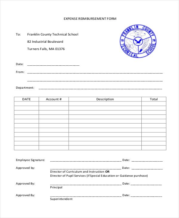 Sample Reimbursement Form - 13+ Free Documents in Doc, PDF - expense reimbursement form