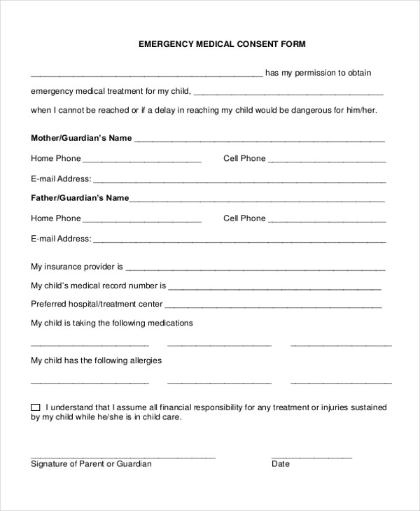 Free Medical Form Best Photos Of Printable Medical Release Form - printable medical release form for children