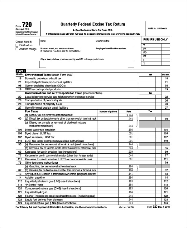 Sample Federal Tax Form - 8+ Free Documents in PDF - federal tax form