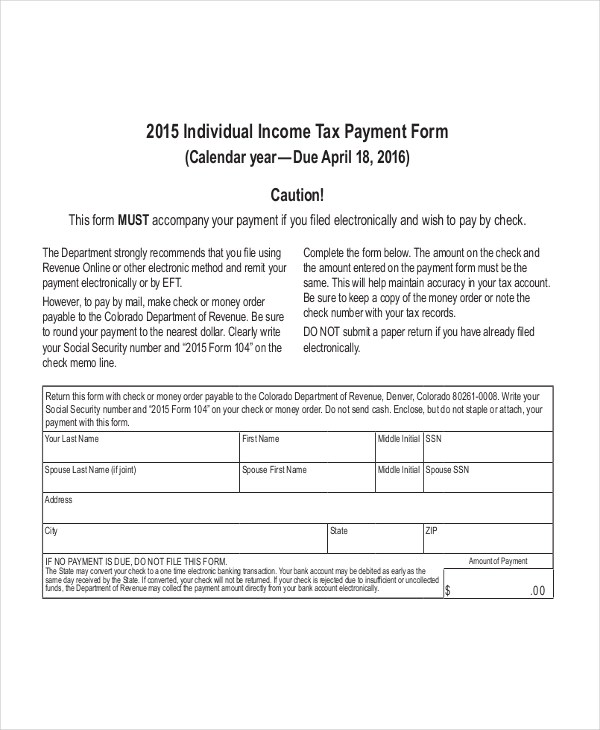 Sample Federal Tax Form - 8+ Free Documents in PDF - injured spouse form