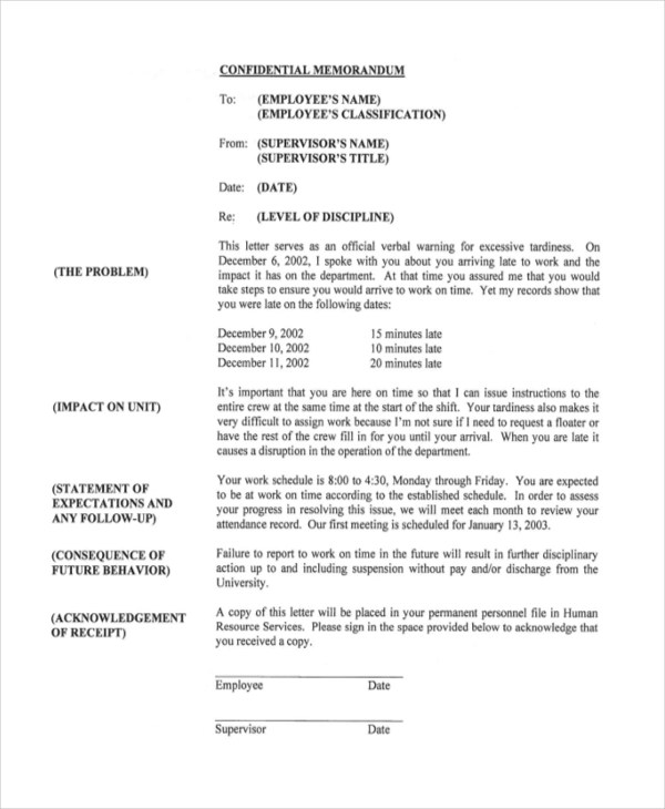Sample Employee Write Up Form - 8+ Free Documents in PDF, Doc