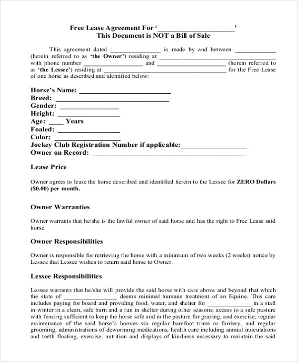 Simple Lease Agreement Form - 10+ Free Documents in Doc, PDF - Sample Lease Agreement Form