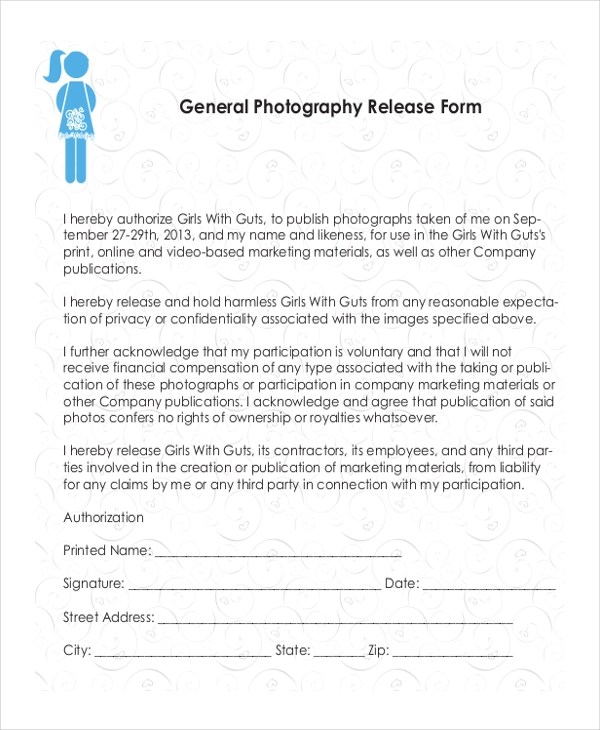 Sample Photography Release Form - 10+ Free Documents in Doc, PDF